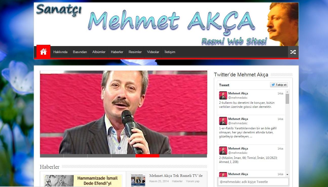 Sanatçı Mehmet Akça Web Sitesi