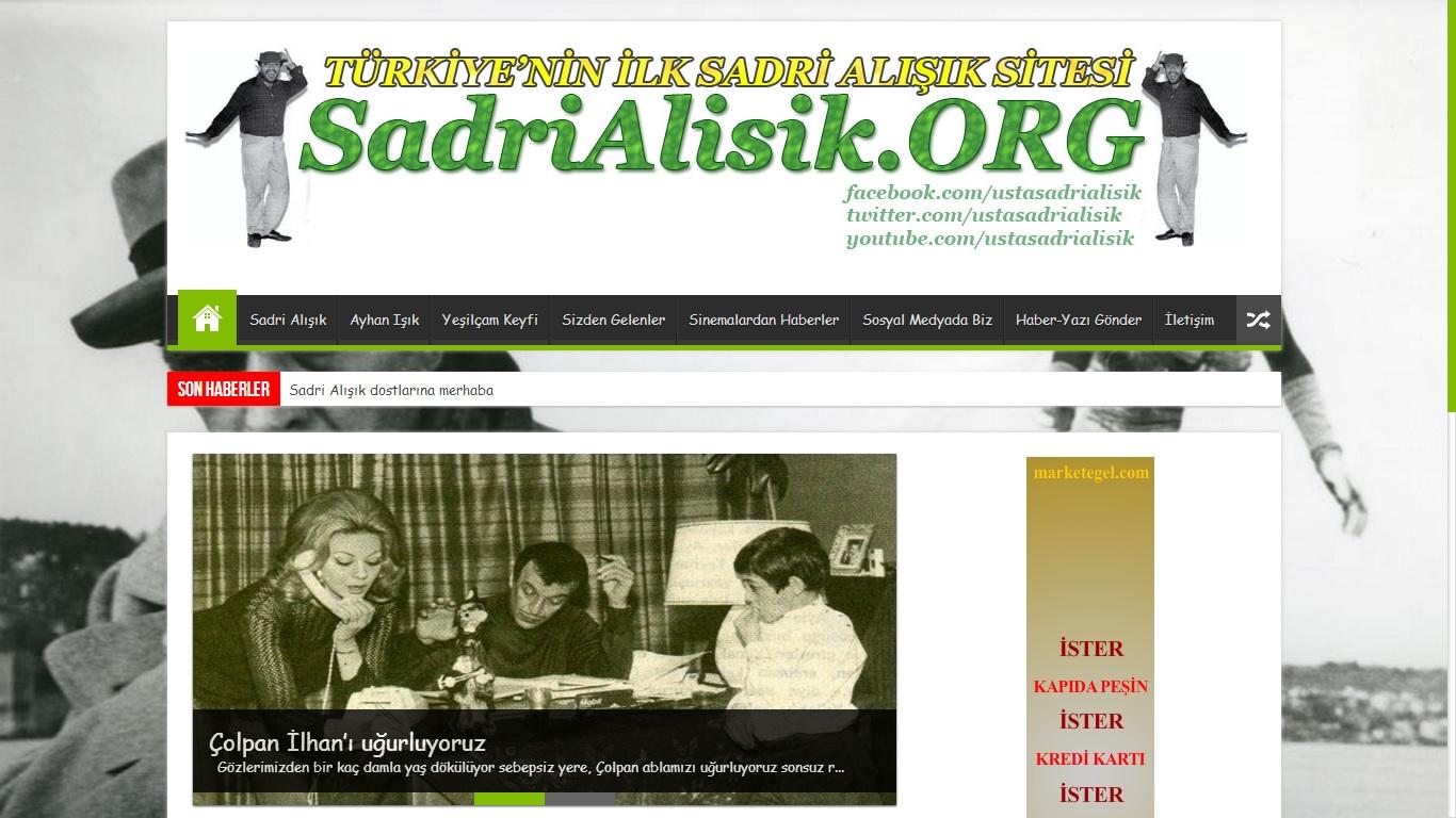 Sanatçı Sadri Alışık Fan Web Sitesi