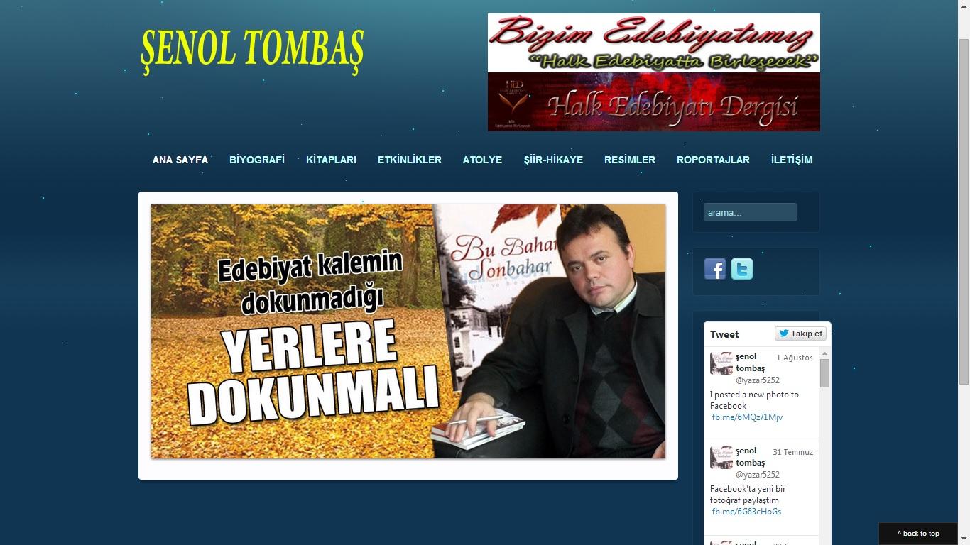 Yazar Şenol Tombaş Web Sitesi