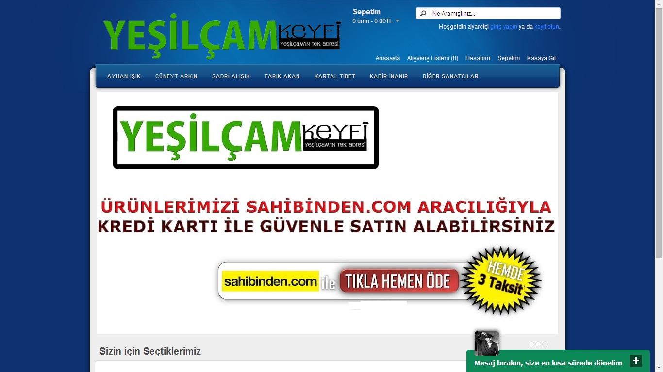 Yeşilçam Keyfi E-Ticaret Web Sitesi